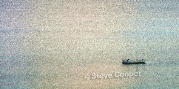 Lonely Boat - St. Martin - 12 x 24