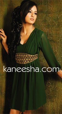OliveGreen Georgette Tunic