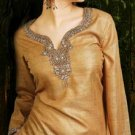 Brown Silk Tunic