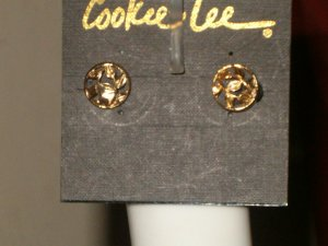 Gold Rose 14KT G.P Clip-on Earrings