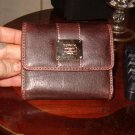 LIZ CLAIBORNE BROWN LEATHER WALLET NWOT