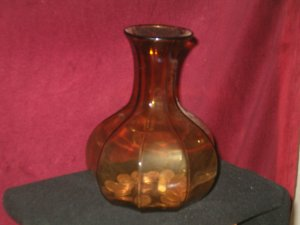Nine Slice Amber Bottle