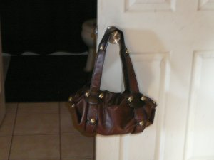 Twilight's Rockstar Collection Brown Leather Studded Handbag