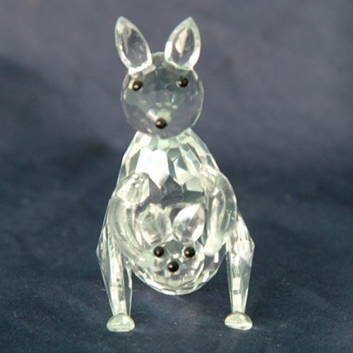 451 Stunning Crystal Kangaroo With Joey