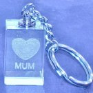 329 Laser Crystal Mum Key Ring