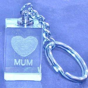 329 Laser Crystal Mum Key Ring
