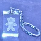 330 Laser Crystal Teddy Key Ring