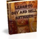How To Buy Antiques And Collectibles e-Book