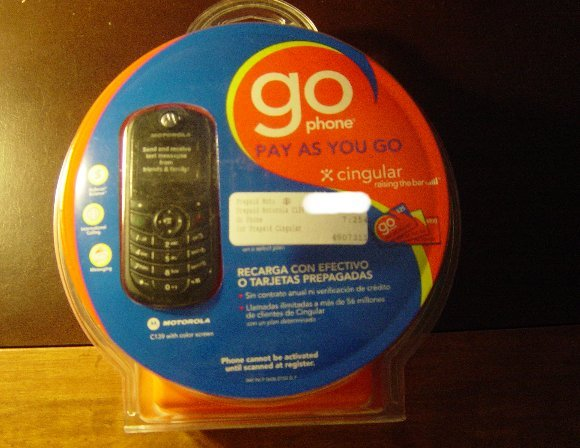 New Cingular Motorola C139 GSM CELL PHONE+SIM Card+$10 Time
