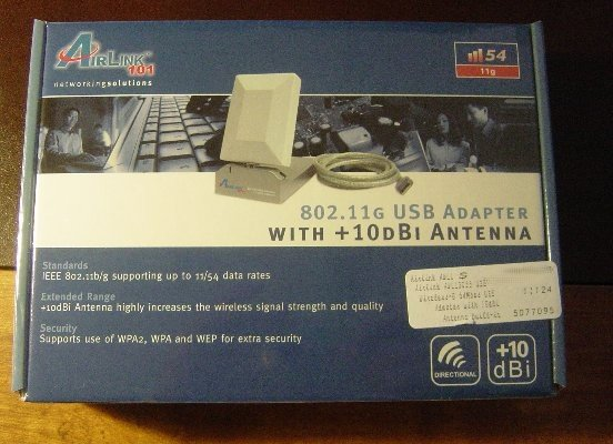 Airlink 802.11g/wifi Wireless USB Adapter+10dbi antenna