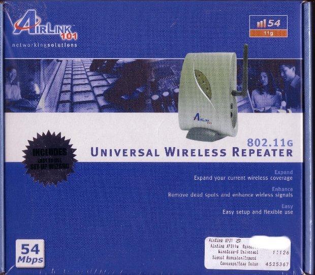 Brand New Universal Wireless G Repeater Range Extender AP311W