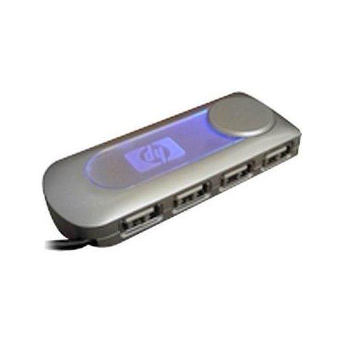 Brand New HP USB 2.0 Mini-hub 4 Port Hub 4 Ports with Ac Adapter