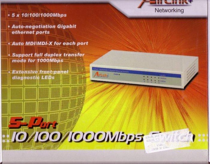 Brand New 5 Port Gigabit Switch 10/100/1000 AGIGA5SW