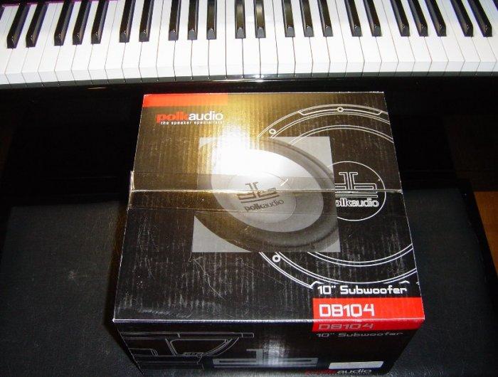 """New Polk Audio db104 10"""" Subwoofer Speaker"""
