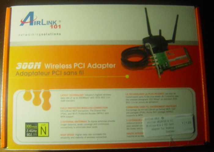 New Airlink 300N Wireless 802.11N/11N 300Mbps PCI Card
