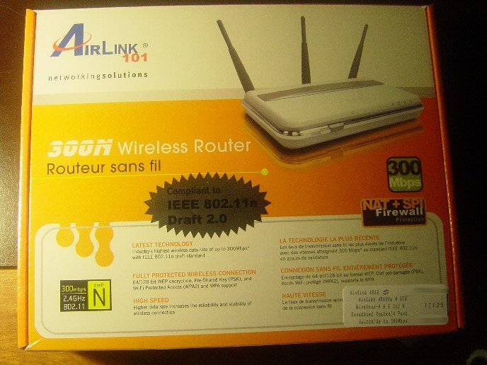 New Airlink 300N Wireless 802.11N/11N/G 300Mbps Router