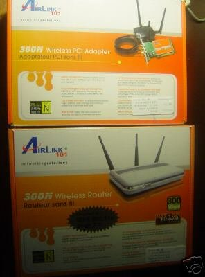 New Airlink 300N Wireless 802.11N 300Mbps Router+PCI  Adapter Combo Bundle