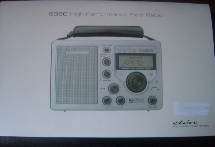 Eton S350 AM/FM Shortwave Field Radio + Leather Strap