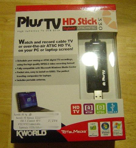 New Kworld ATSC/NTSC Hybrid HDTV Tuner PlusTV HD Hybrid Stick 330