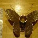 Vintage Brass Copper Butterfly Candle Stick Holder MINT