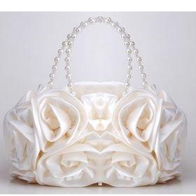 Impressive Satin Beads/Sequins Evening Bag Handbag Purse Clutch