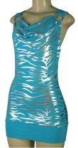 Stretch Metallic Print Dress