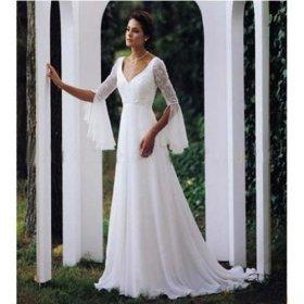 Chapel Train Satin Wedding Dresses for Bride