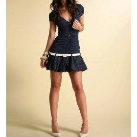 Mini Dress Jersey Mix Denim