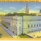 Cleveland Public Auditorium, showing Terminal Tower, Cleveland, Ohio