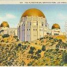 The Planetarium, Griffith Park, Los Angeles, California, linen, unused