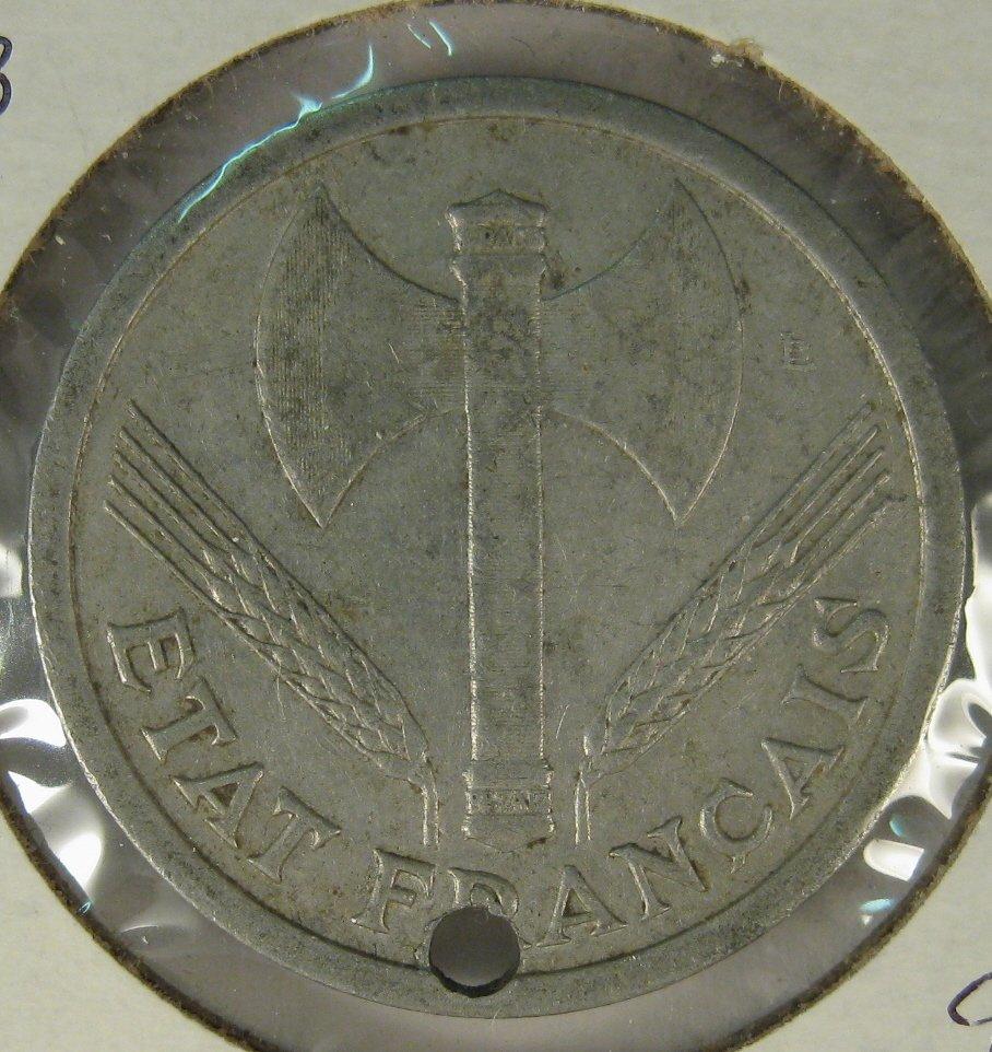1943 2 francs France #4120