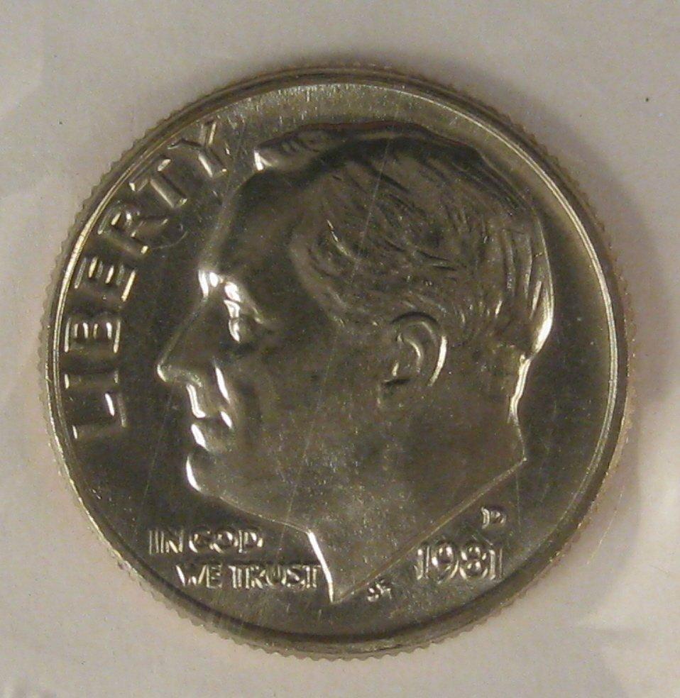 1981-D Roosevelt UNC #4123