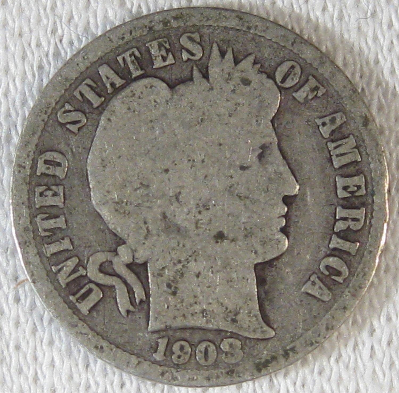 1908-D Barber Dime #4345