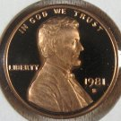 1981-S  Lincoln Proof Type 1 #4121