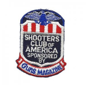 Vintage SHOOTERS CLUB OF AMERICA - Guns Magazine PATCH