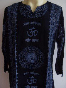 Ganesh OM  Men T Shirt  Hindu India Black L XL XXL 17077 5888