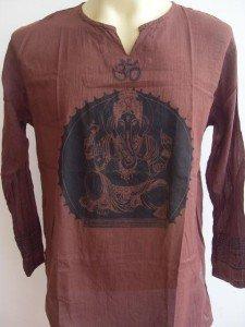 Ganesh Om Men's T Shirt Hindu Hindusim India Brown L 18071 8558