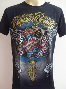 Emperor Eternity Gamble Heart Tattoo T-shirt Black M L