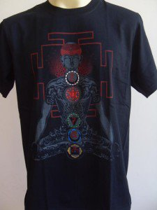 YOGA Men T Shirt OM Hindu India Meditation Black M L 2X