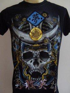 Emperor Eternity Skull Devil Samurai Tattoo Black M L