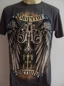Emperor Eternity Winged Spade Tattoo T-shirt gray L