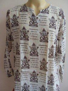 Ganesh Om Men's T Shirt Hindu India White XL #Bp