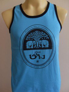 Thai Chang Beer Men T-shirt Tank Top blue M