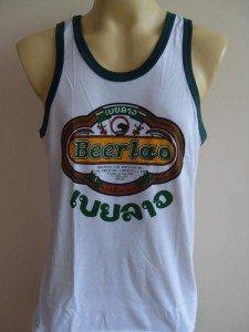 LAO Beer Men T-shirt Tank top Singlet white M L XL 18065 3515