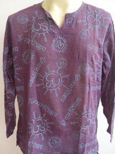 Ganesh Om Men's T Shirt Hindu India Purple L #OP