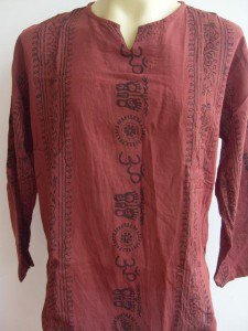 Ganesh Om Men's T Shirt Hindu India Mahogany L #Ma