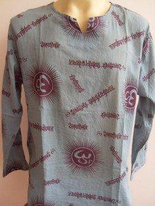 Ganesh Om Men's T Shirt Hindu India blue L