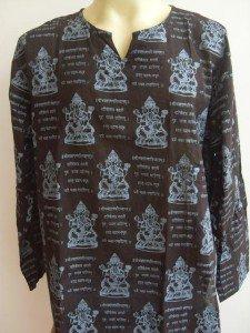 Ganesh Om Men's T Shirt Hindu India Black XL 18071 8108