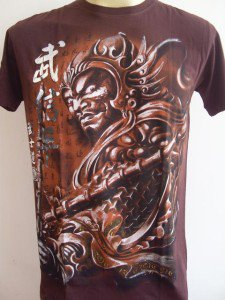 Emperor Eternity Chinese Paladin Knight Men T-shirt Brown L