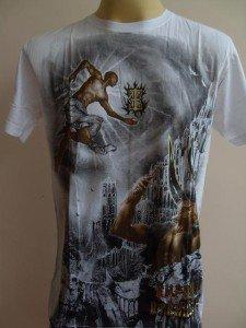 Emperor Eternity Devil Fight Tattoo T-shirt White L 18075 3296